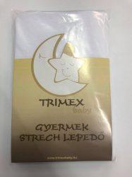 Trimex gyermek strech lepedő - fehér