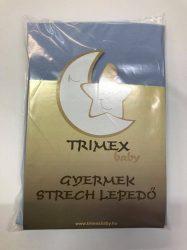Trimex gyermek strech lepedő - kék