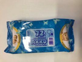 Axxo Sensitive 72 darabos baba törlőkendő