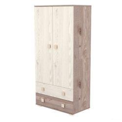 Timba Viki 2 ajtós, 2 fiókos álló szekrény - Krém fűz