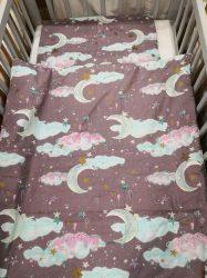 Pamut ágynemű, 2 részes - Lila felhős