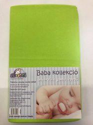 Baba, gyermek gumis lepedő (60 x 120 cm-től, 70 x 140 cm-ig) - zöld
