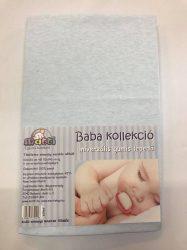 Baba, gyermek gumis lepedő (60 x 120 cm-től, 70 x 140 cm-ig) - Világos kék