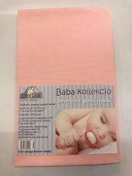 Baba, gyermek gumis lepedő (60 x 120 cm-től, 70 x 140 cm-ig) - Rózsaszín