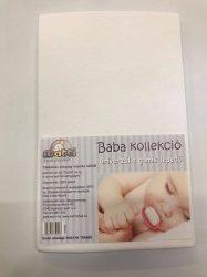 Baba, gyermek gumis lepedő (60 x 120 cm-től, 70 x 140 cm-ig) - Fehér