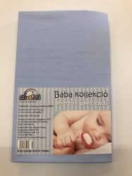 Baba, gyermek gumis lepedő (60 x 120 cm-től, 70 x 140 cm-ig) - kék