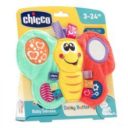 Chicco DAISY pillangó textil csörgő-rágóka