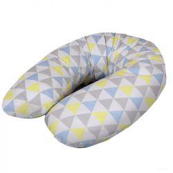 Ceba szoptatós párna multi - Háromszögek kék-sárga