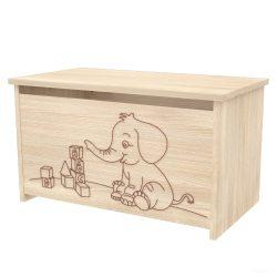 Timba Niki játéktároló láda, elefántos - Borostyán