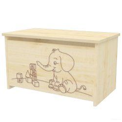 Timba Lili játéktároló láda, elefántos - Juhar