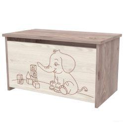 Timba Viki játéktároló láda, elefántos - Krém Fűz