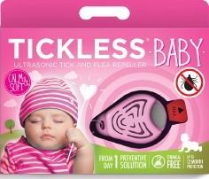 Tickless Ultrahangos kullancsriasztó baby - rózsaszín