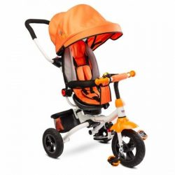 Caretero Toyz Wroom tricikli tolókarral - Orange