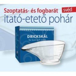 Szoptatás és fogbarát svéd itató etető pohár