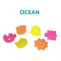 BabyOno fürdőjáték puzzle szivacs, 6 db - 534 óceán.