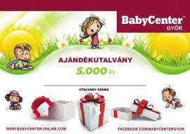 Ajándékutalvány 5000 Ft értékben - Babycenter-Győr - bababolt