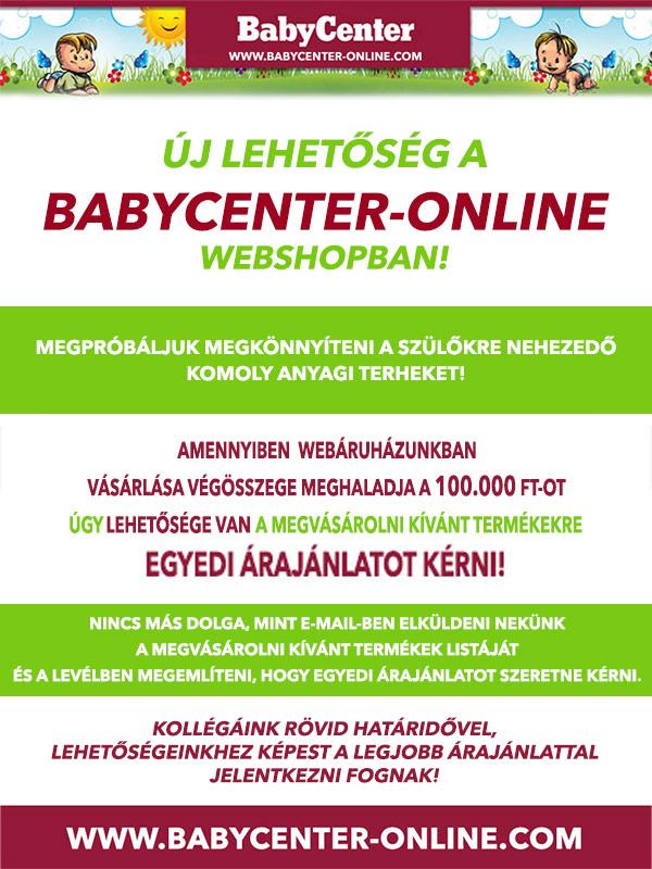 BabyCenter - baba webáruház és bababolt egyedi árajánlata